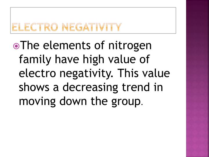 electro negativity