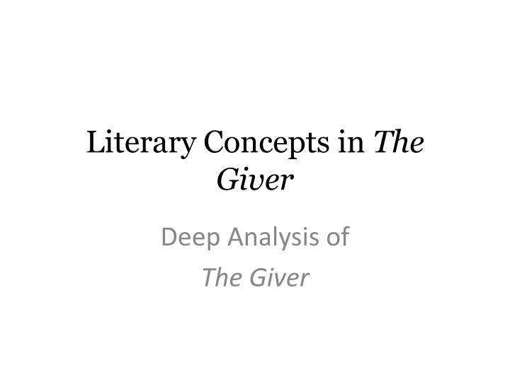 What are literary concepts?