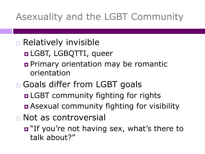 Asexuality and the LGBT Community