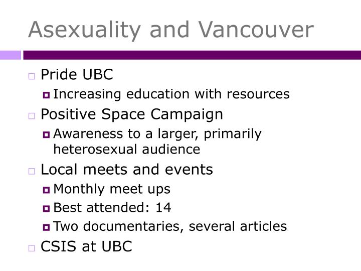 Asexuality and Vancouver