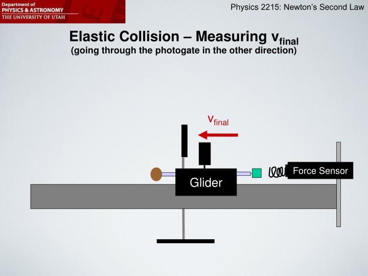 Elastic Collision – Measuring v
