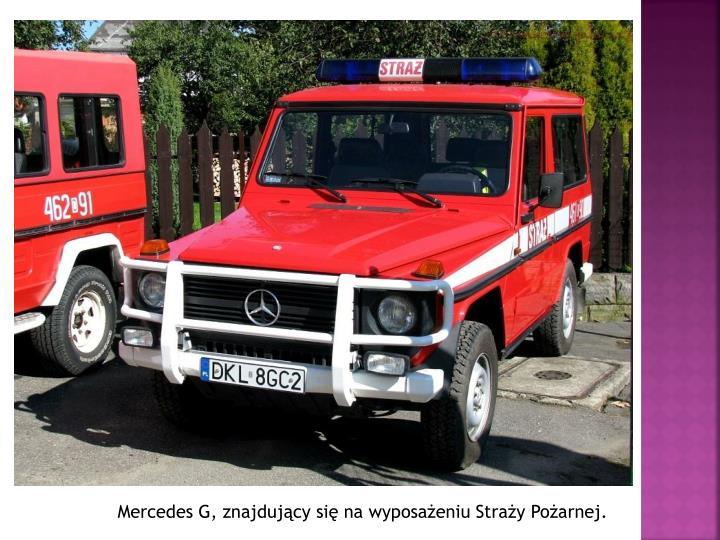 Mercedes G, znajdujący się na wyposażeniu Straży Pożarnej.