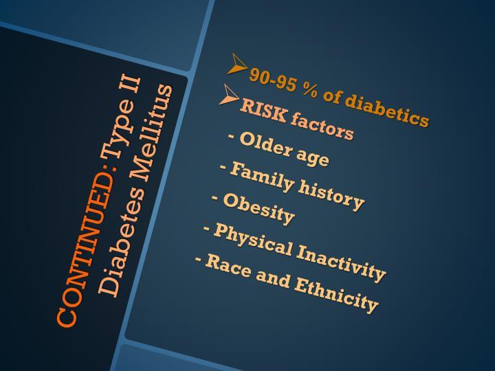 90-95 % of diabetics