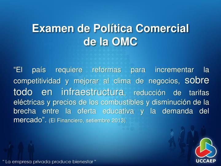 Examen de Política Comercial