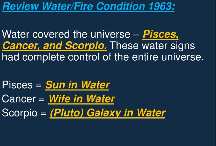 Review Water/Fire Condition 1963: