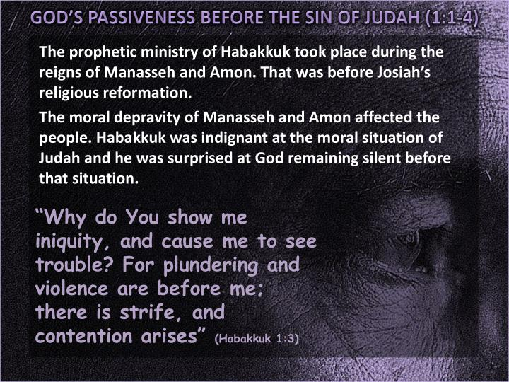 GOD'S PASSIVENESS BEFORE THE SIN OF JUDAH