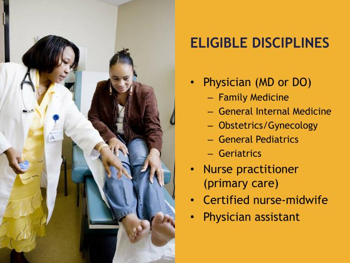Eligible Disciplines