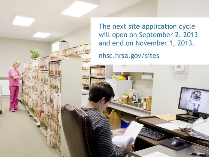 The next site application cycle will open on September 2, 2013 and end on November 1, 2013.