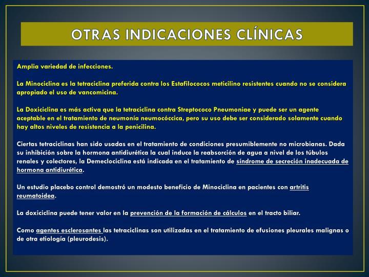 OTRAS INDICACIONES CLÍNICAS