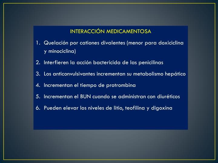 INTERACCIÓN MEDICAMENTOSA