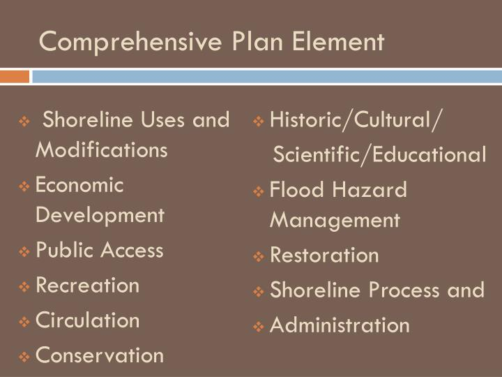 Comprehensive Plan Element
