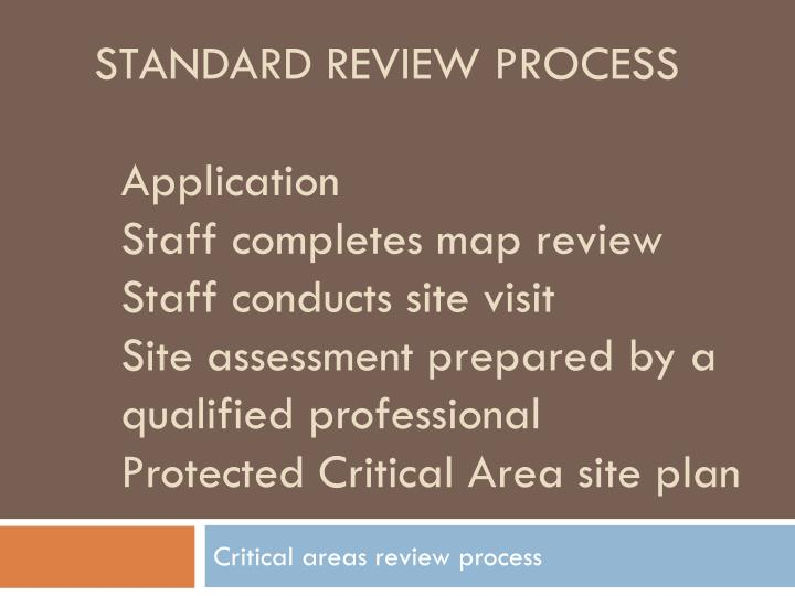 Standard review process