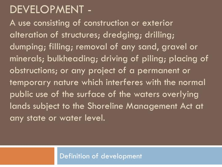 Development -