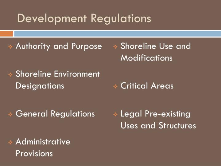 Development Regulations