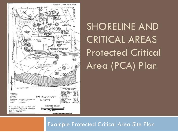 Shoreline and critical areas