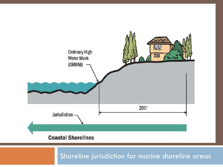 Shoreline jurisdiction for marine shoreline areas