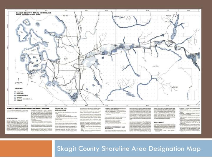 Skagit County Shoreline Area Designation Map