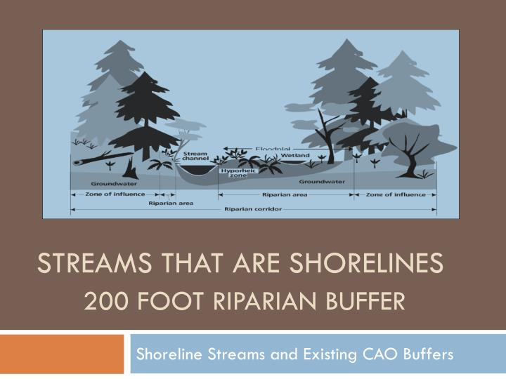Streams that are shorelines