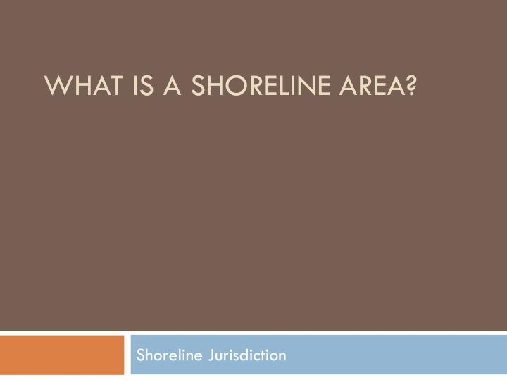 What is a shoreline area