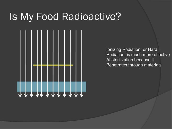 Is My Food Radioactive?