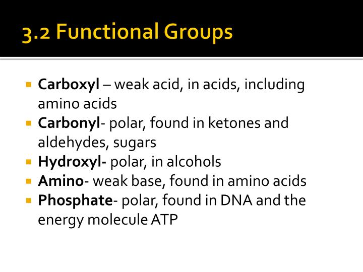 3.2 Functional Groups