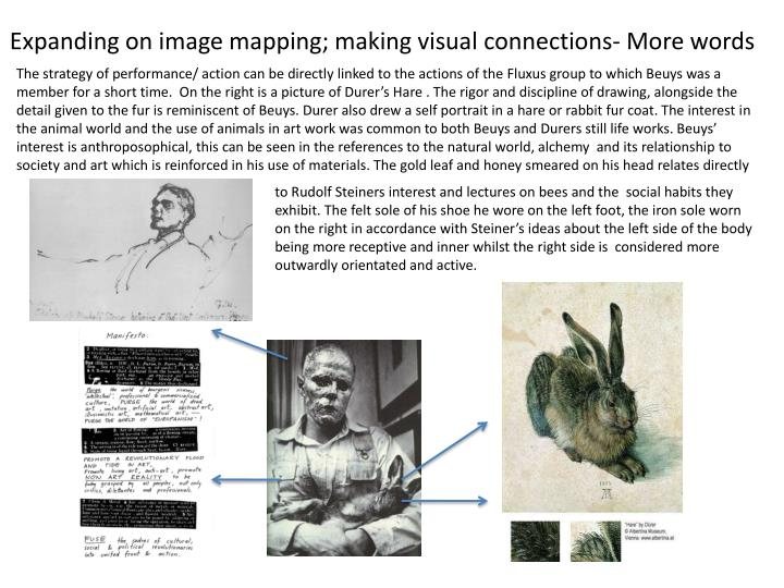 Expanding on image mapping; making visual connections- More words