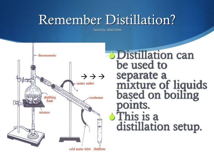 Remember Distillation?