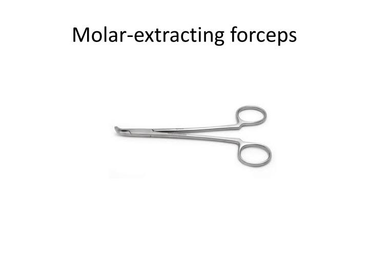 Molar-extracting forceps