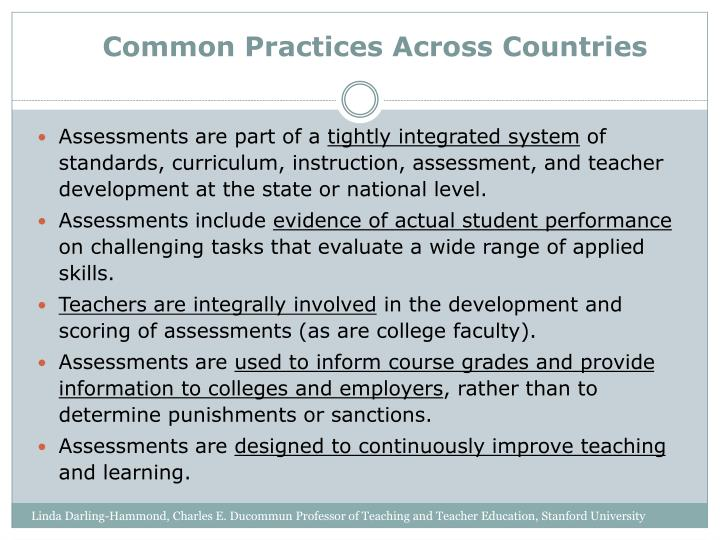 Common Practices Across Countries
