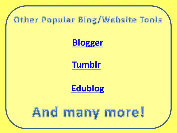 Other Popular Blog/Website