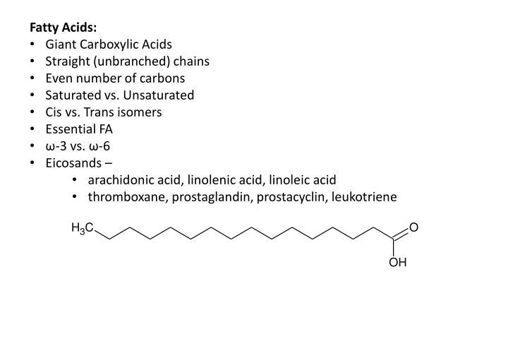 Fatty Acids: