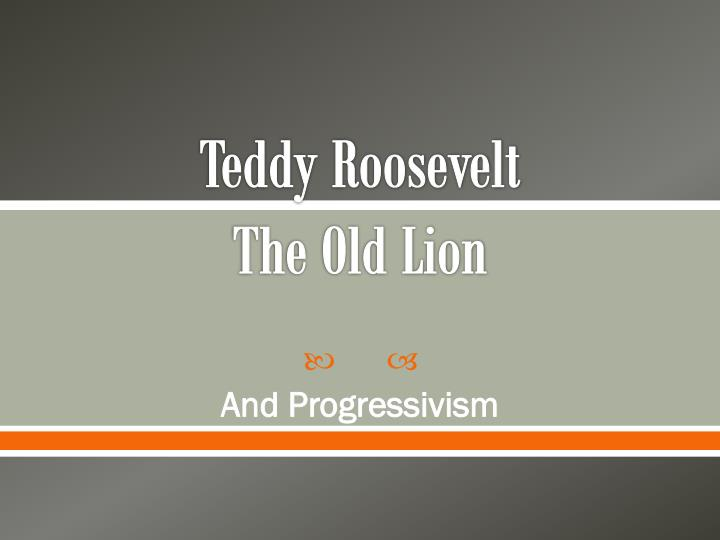 Teddy roosevelt the old lion