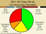 2011 kc data set by co occurring disorders