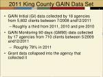 2011 king county gain data set