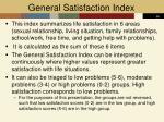 general satisfaction index