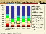intensity of justice involvement by race