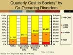 quarterly cost to society by co occurring disorders