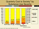quarterly cost to society by substance use severity