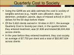 quarterly cost to society