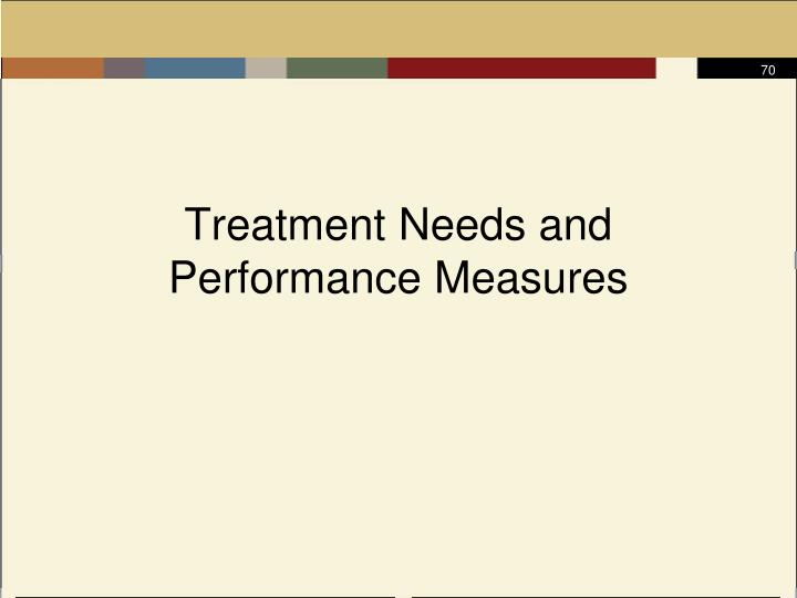 Treatment Needs and Performance Measures