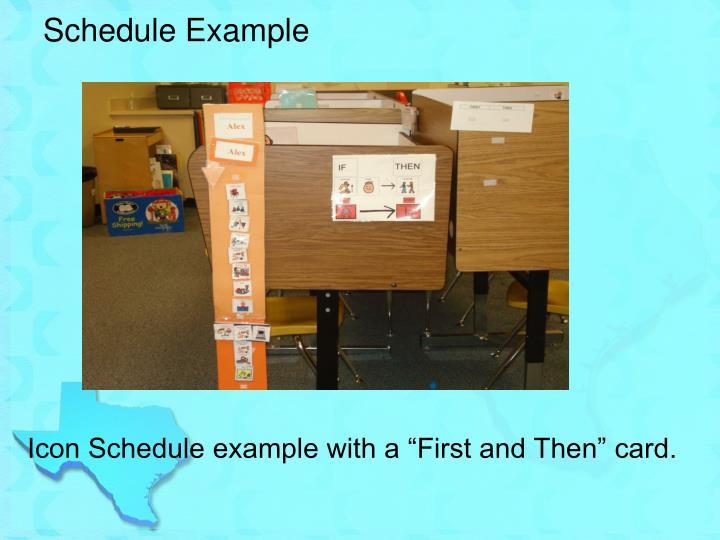 Schedule Example