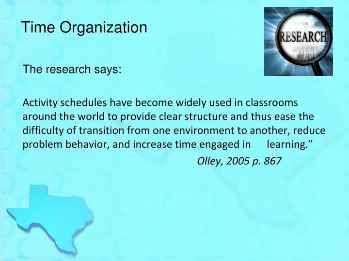 Time Organization