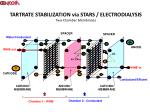 tartrate stabilization via stars electrodialysis two chamber membranes