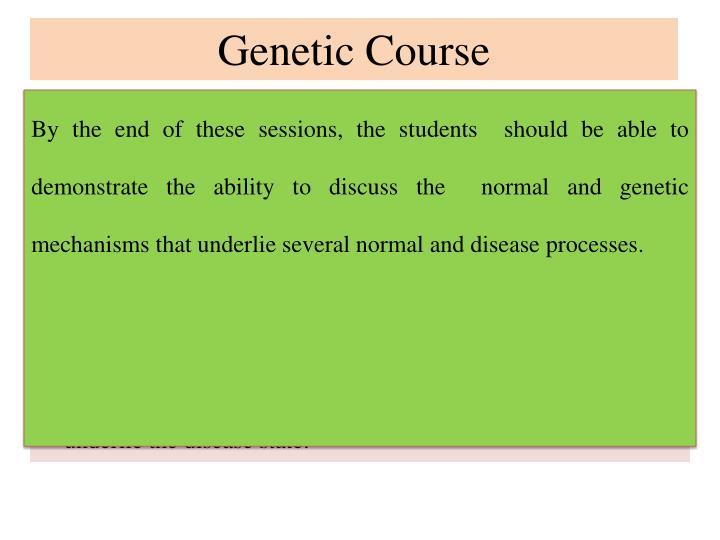 Genetic Course