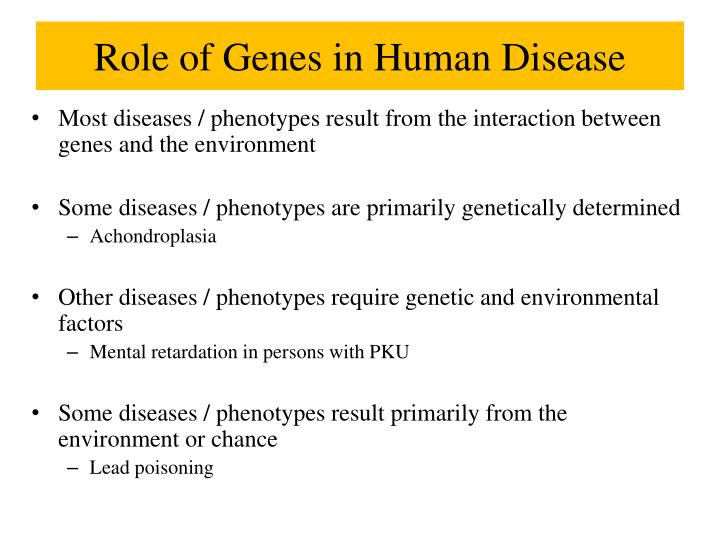 Role of Genes in Human Disease