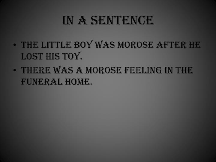 In a sentence