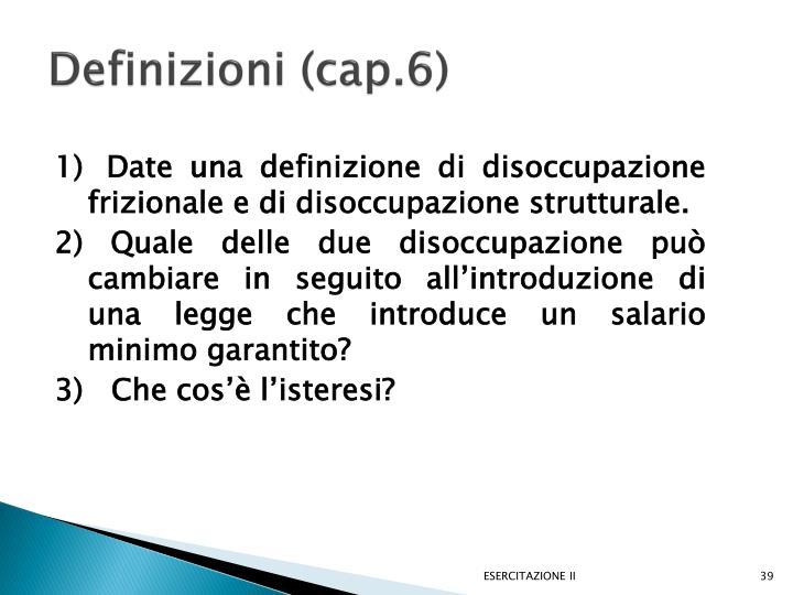 Definizioni (cap.6)