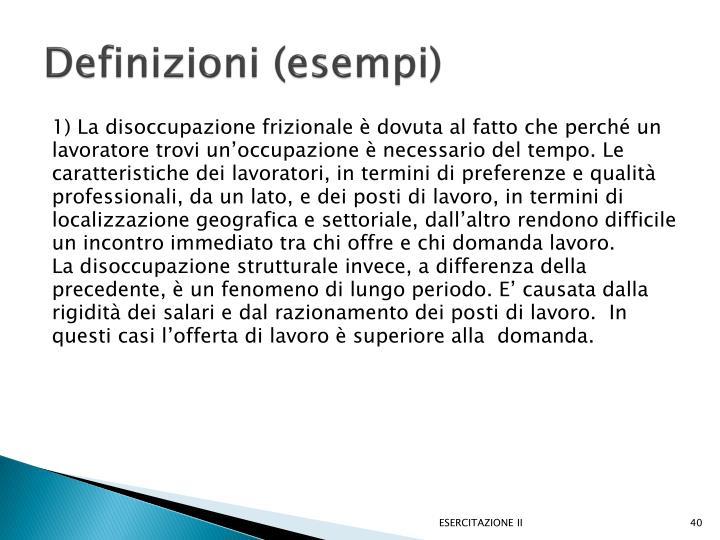 Definizioni (esempi)