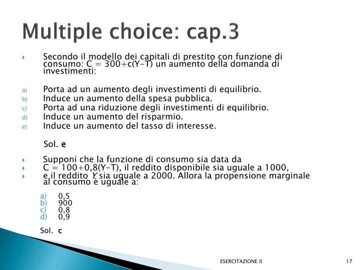 Multiple choice: cap.3