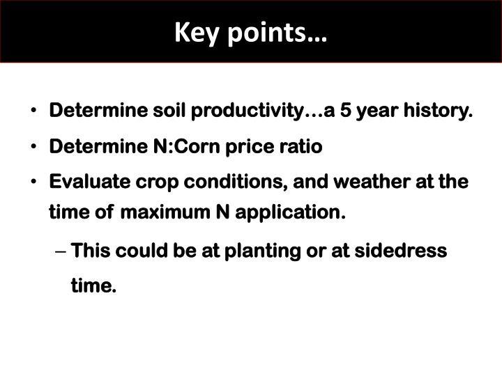 Key points…